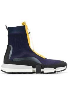 Diesel High top sock sneakers with zip closure