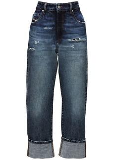 Diesel High Waist De Reggy Recycled Baggy Jeans