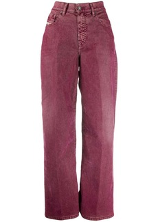 Diesel high-waisted wide jeans