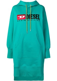 Diesel hooded logo dress