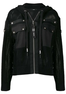 Diesel hooded net jacket