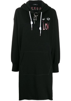 Diesel hooded oversized dress
