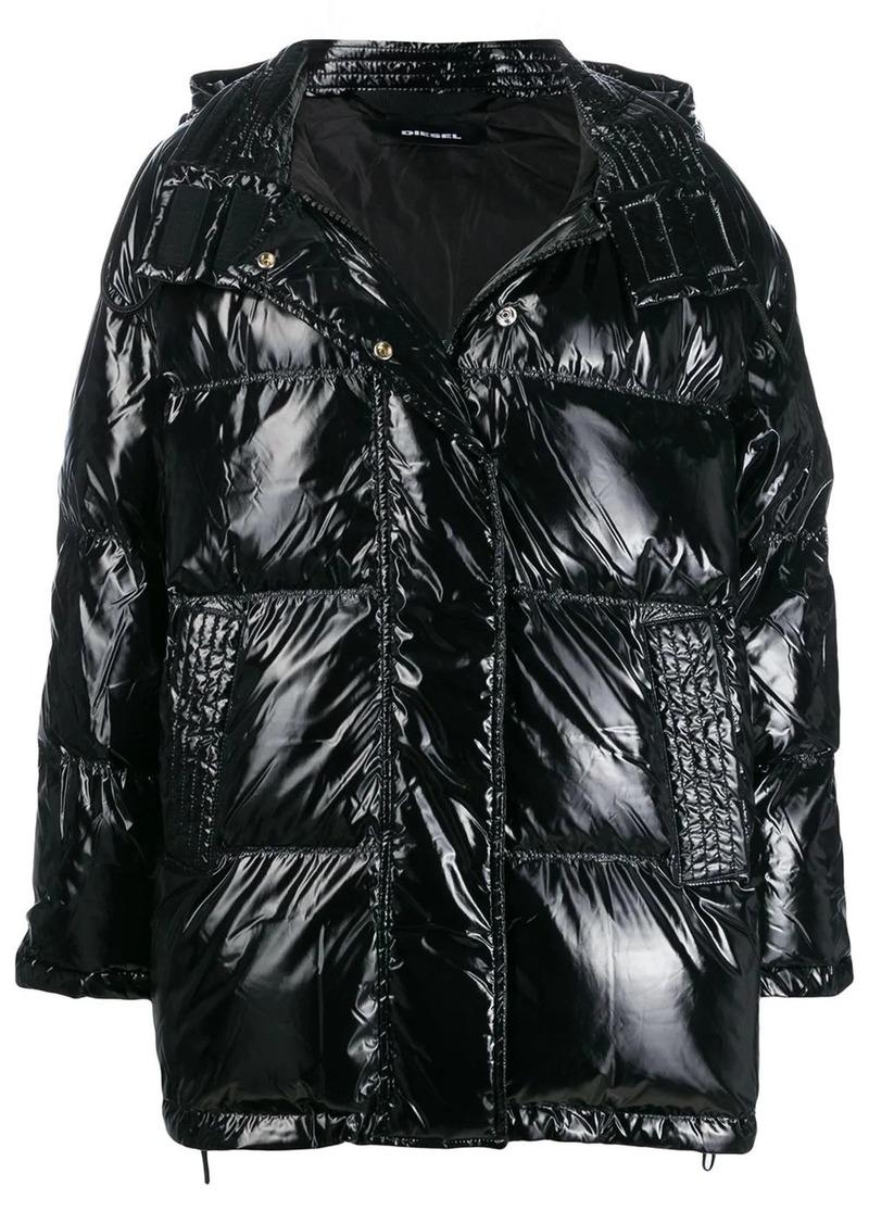 Diesel hooded padded jacket