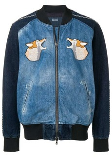 Diesel hunting embroidery bomber jacket