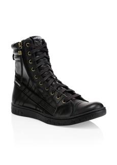 Diesel Hybrid Leather Sneaker Boots