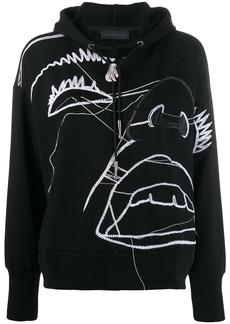 Diesel illustrated pattern hoodie