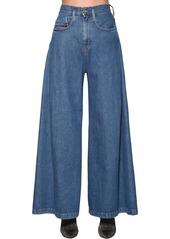 Diesel Izzier High Rise Wide Leg Denim Jeans