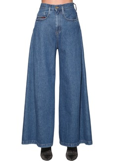Diesel Izzier High Rise Wide Leg Denim Jeans