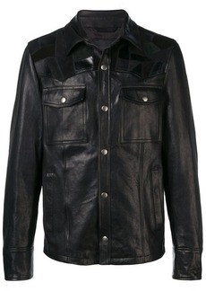 Diesel jacket in nappa leather with patchwork