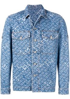 Diesel jacquard logo denim shirt-jacket