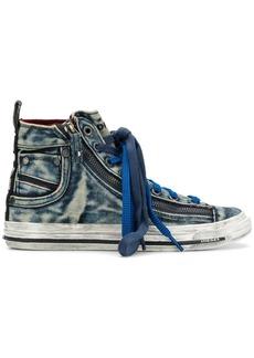 Diesel jeans effect hi-top sneakers