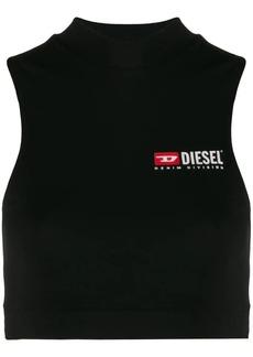 Diesel Jersey crop top with logo print