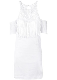 Diesel jersey dress with lace neckline