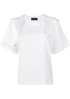 Diesel jersey top with lace details