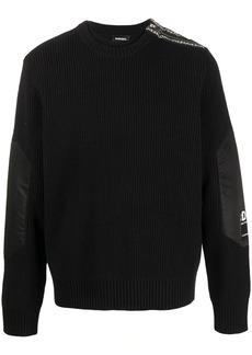 Diesel K-Gilling ribbed-knit layered jumper