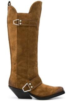 Diesel knee-high cowboy boots