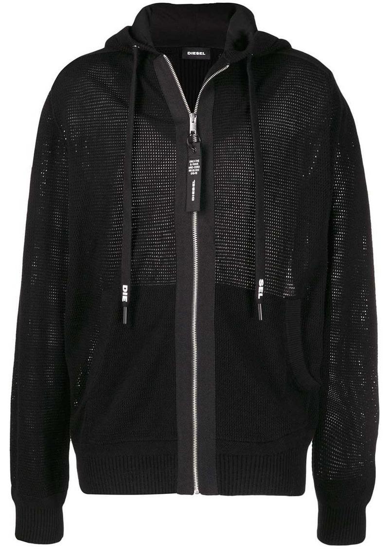 Diesel knit zip up hoodie