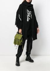 Diesel knitted fringe detail coat