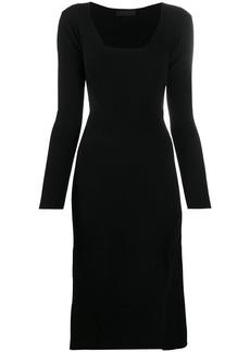 Diesel knitted side slit detail dress