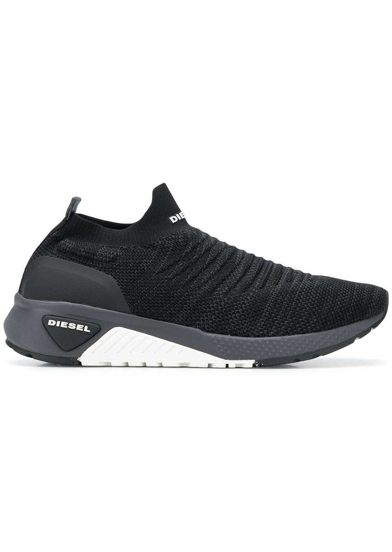 Diesel knitted slip-on sneakers