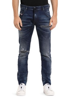 Diesel Krooly Slim-Fit Straight-Leg Distressed Denim Joggers