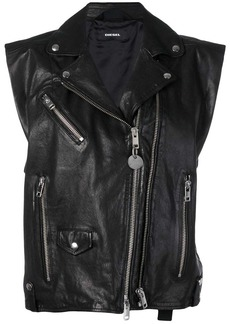 Diesel L-Droppet sleeveless biker jacket