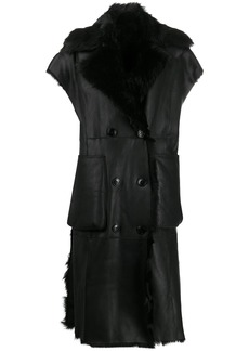 Diesel L-irta sleeveless shearling coat