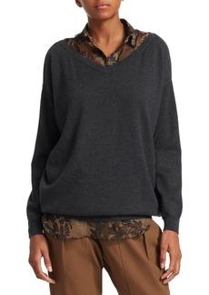 Diesel Layered Cashmere Boyfriend Sweater