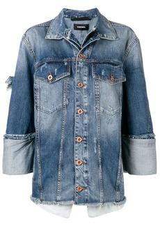 Diesel layered denim jacket
