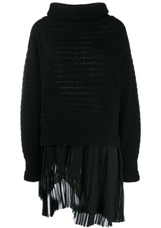 Diesel layered knitted jumper