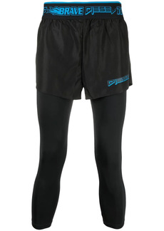 Diesel layered short-leggings