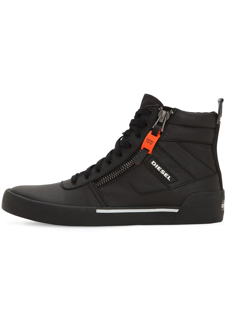 Diesel Leather High Top Sneakers