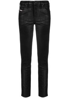 Diesel leather mid-rise skinny jeans