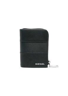 Diesel leather stripe zipped wallet