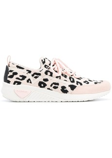 Diesel leopard print low-top sneakers