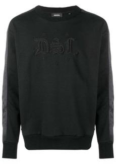Diesel lettering detail sweatshirt