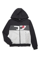 Diesel Little Boy's & Boy's Colorblook Logo Hoodie