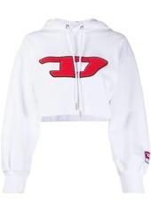 Diesel logo cropped hoodie