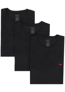 Diesel logo embroidered three-pack T-shirts