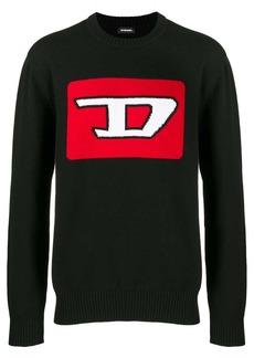 Diesel logo intarsia jumper
