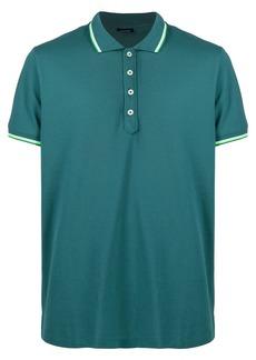Diesel logo patch polo shirt