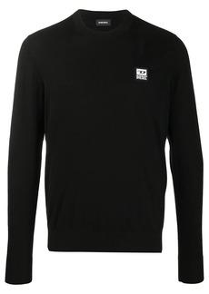Diesel logo patch pullover jumper