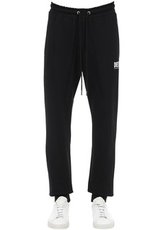 Diesel Logo Print Cotton Jersey Sweatpants