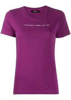 Diesel logo print crew neck T-shirt