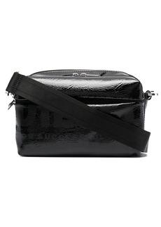 Diesel logo-print glossy shoulder bag