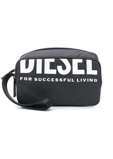 Diesel logo print make up bag