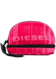 Diesel logo print make-up bag