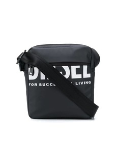 Diesel logo-print messenger bag