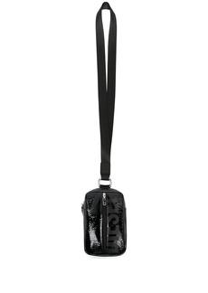 Diesel logo print neck-strap purse