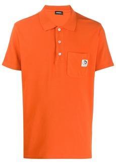 Diesel logo print polo shirt